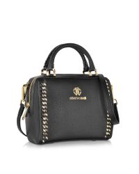Roberto Cavalli - Boston Mini Black Leather Handbag - Lyst