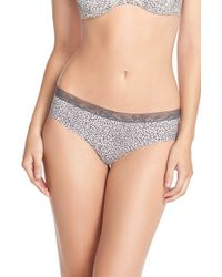 Calvin Klein | Multicolor 'invisibles' Lace Trim Hipster Briefs | Lyst