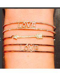 Anne Sisteron | Pink 14kt Rose Gold Diamond Love Deux Cuff | Lyst