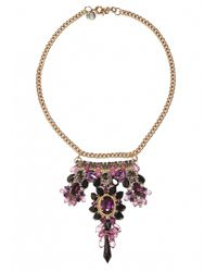 Matthew Williamson | Metallic Garnet Beaded Crescent Necklace | Lyst