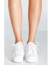 Adidas Originals White Originials Samoa Perforated Mono Sneaker