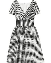 Oscar de la Renta - Black Ruffled Skirt Lace Dress - Lyst