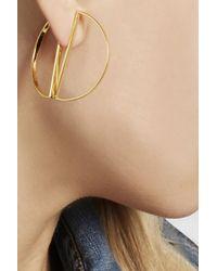 Maria Black | Metallic Half Hoop Gold-Plated Earrings | Lyst