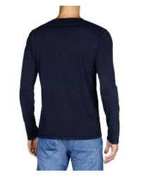 Napapijri | Blue Long Sleeve T-shirt for Men | Lyst