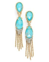Alexis Bittar | Blue Double Drop Tassel Earrings | Lyst