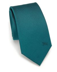 Burberry Blue Solid Silk Tie for men
