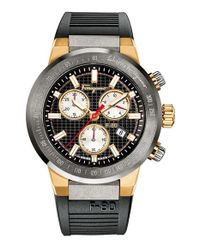Ferragamo - Black 'f-80' Chronograph Watch for Men - Lyst