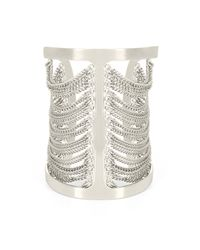 BCBGMAXAZRIA | Metallic Draped Chain Cuff | Lyst