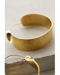 Lena Bernard | Metallic Broad Brass Hoops | Lyst