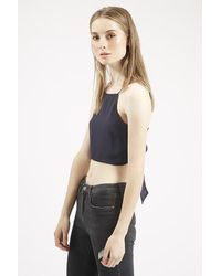 be1bd5c7e13f6 TOPSHOP Tie Back Cami Top By Glamorous in Blue - Lyst