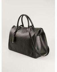 Jil Sander Black Doctors Style Tote Bag