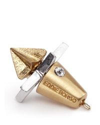 Eddie Borgo | Metallic 2 Piece Star Stud Earrings | Lyst