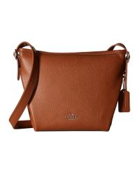 COACH - Brown Pebbled Leather Swagger 27 - Lyst