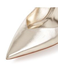 Dune - Metallic Alessia Sweetheart Mid Heel Court Shoes - Lyst