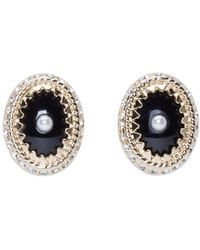Givenchy | Metallic Gold And Pearl Magnet Earrings | Lyst