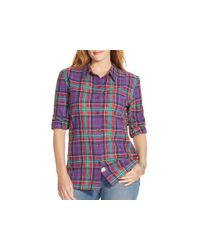Pink Pony | Purple Lauren Plus Plaid Shirt | Lyst