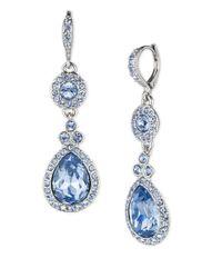 Givenchy | Blue Glitz Drop Earrings | Lyst