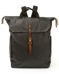 Ally Capellino | Black Ashley Waxed Cotton Utility Rucksack for Men | Lyst