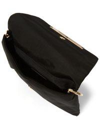 Lanvin - Black Satin Envelope Clutch Bag - Lyst