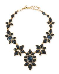 Oscar de la Renta | Black Resin-Facet Necklace | Lyst