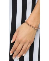 Giles & Brother Pink Skinny Hex Cuff Bracelet - Rose Gold