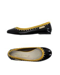 John Galliano - Black Ballet Flats - Lyst