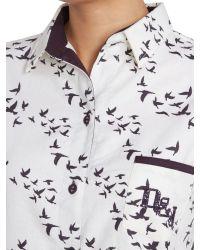 Dickins & Jones Natural Molly Scatter Bird Print Nightshirt