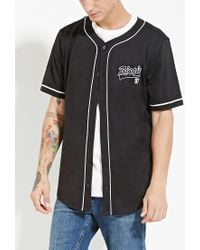 Forever 21 - Black Biggie Graphic Baseball Jersey You've Been Added To The Waitlist for Men - Lyst
