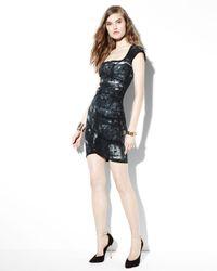 Kelly Wearstler Blue Spirula Batik Cutoutback Dress