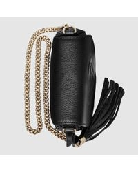 c5245353e201 Lyst - Gucci Soho Leather Chain Shoulder Bag in Black