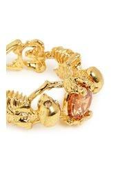 Alexander McQueen | Orange Skeleton Crystal Ring | Lyst