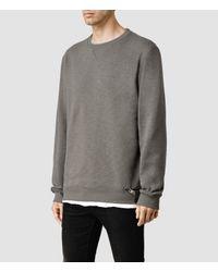 AllSaints - Gray Comanchero Crew Sweater for Men - Lyst