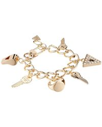 Guess | Metallic Key/Whistle/Triangle Charm Bracelet | Lyst