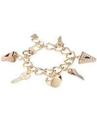 Guess | Metallic Key/Whistle/Triangle Charm Bracelet | Lyst