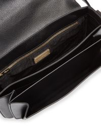 Ferragamo - Black Sandrine Medium Saffiano Shoulder Bag - Lyst
