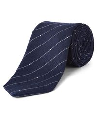 Jaeger Blue Dot Stripe Tie for men