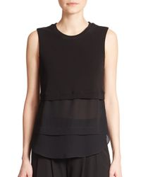 A.L.C. | Black Palmer Layered Sleeveless Top | Lyst