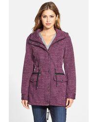 Steve Madden Purple Sweater Knit Anorak