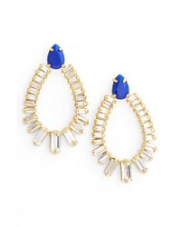 Trina Turk - Jeweled Drop Earrings - Dark Blue - Lyst