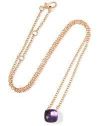 Pomellato | Pink Nudo 18-karat Rose Gold Amethyst Necklace | Lyst