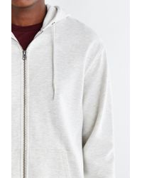 BDG - White Fleece Zip Hoodie Sweatshirt for Men - Lyst