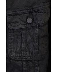 Ralph Lauren Black Label - Black Coated Trucker Jacket for Men - Lyst
