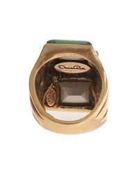 Oscar de la Renta | Metallic Crystal Baguette Ring | Lyst