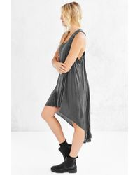 Truly Madly Deeply Gray Open-seam High/low Dress