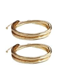 ASOS - Metallic Wrapped Anklet Pack - Lyst