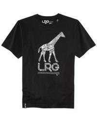 LRG - Black Giraffe Graphic T-Shirt for Men - Lyst