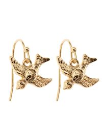 Brooks Brothers | Metallic Bird Charm Earrings | Lyst