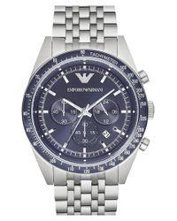 Emporio Armani - Blue Chronograph Bracelet Watch for Men - Lyst