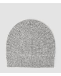 AllSaints | Gray Hiru Cashmere Beanie for Men | Lyst