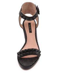 Rachel Zoe - Black Colbie Studded Sandals - Lyst